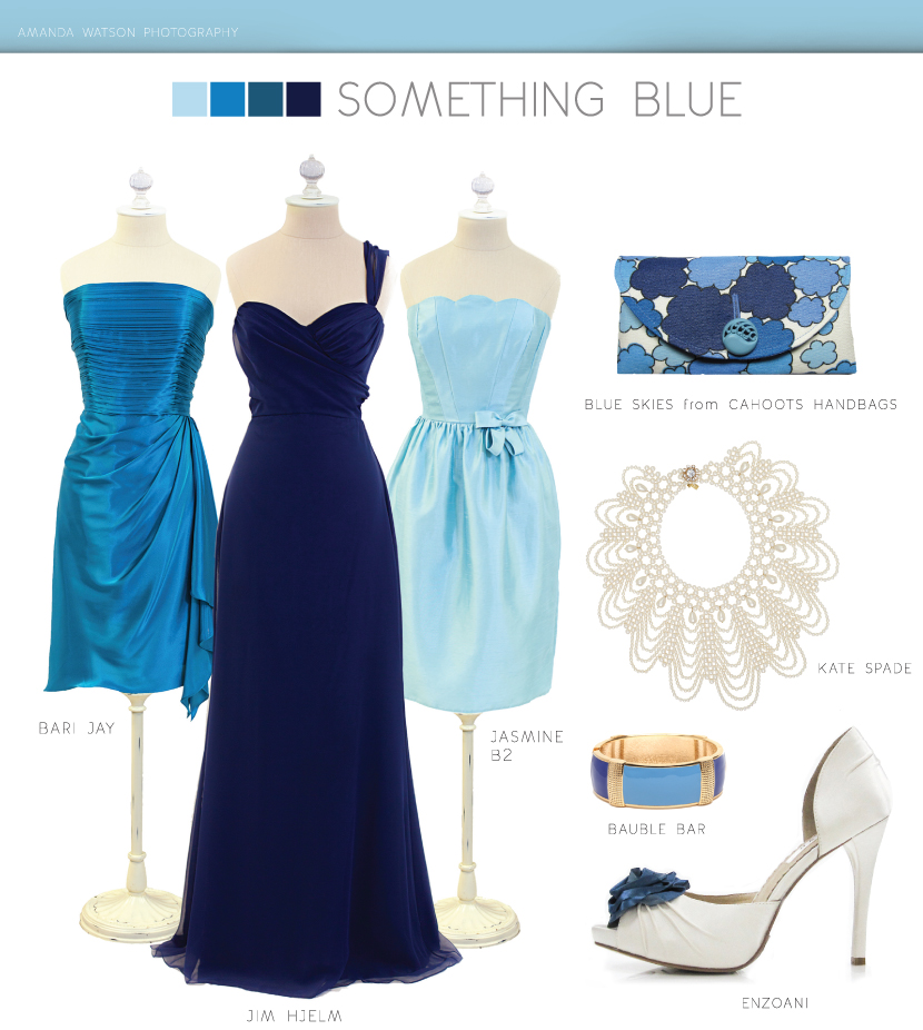 Something Blue for the Bridesmaids