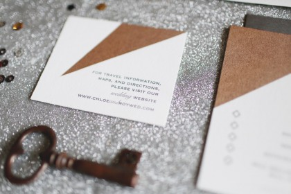 Metallic Invites