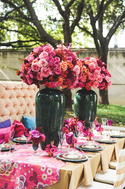 A Stylish Soiree Tabletop | Bold Blooms