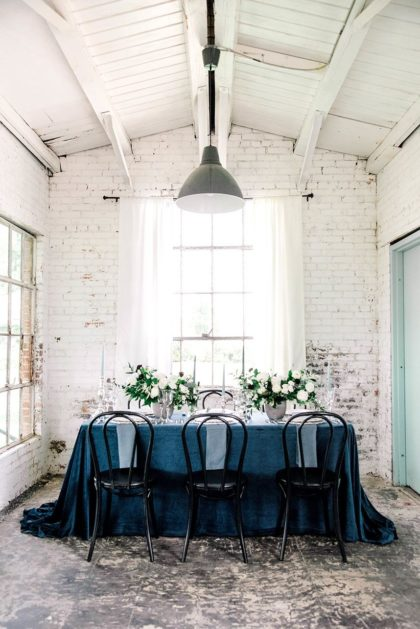 moody blues wedding inspiration from Shannon Rose Events
