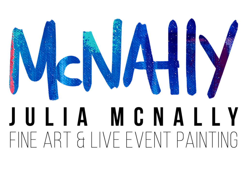 Julia McNally Fine Art & Live Event Painting - North Texas Wedding Entertainment