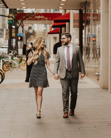 Charming Downtown Dallas Engagement from Jacque Manaugh Photography