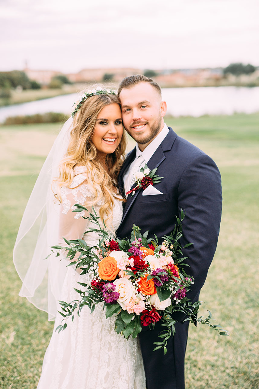 Ashley Peer Weds Nick Newman Fall North Texas Wedding at Stonebridge Ranch Country Club