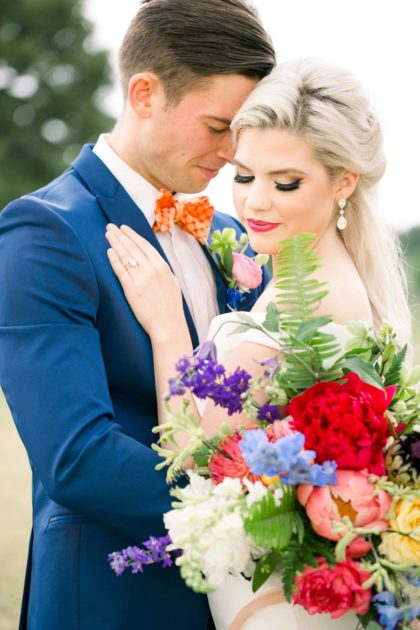 blooming colors wedding inspiration