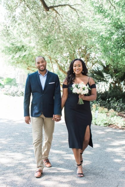 Melanie + Auggie's Gorgeous Dallas Arboretum Engagement Shoot North Texas Wedding Photographer Devin Ashley Photography