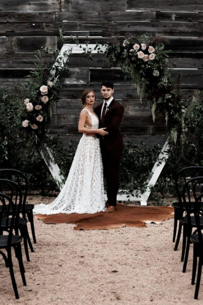 Moody Modern Texas Wedding Inspiration from Katie Frost Weddings