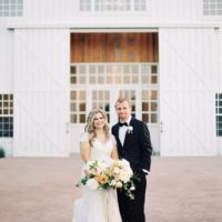 Jayla Jordan Weds Chris Meets Romantic Gold Wedding at The White Sparrow Barn