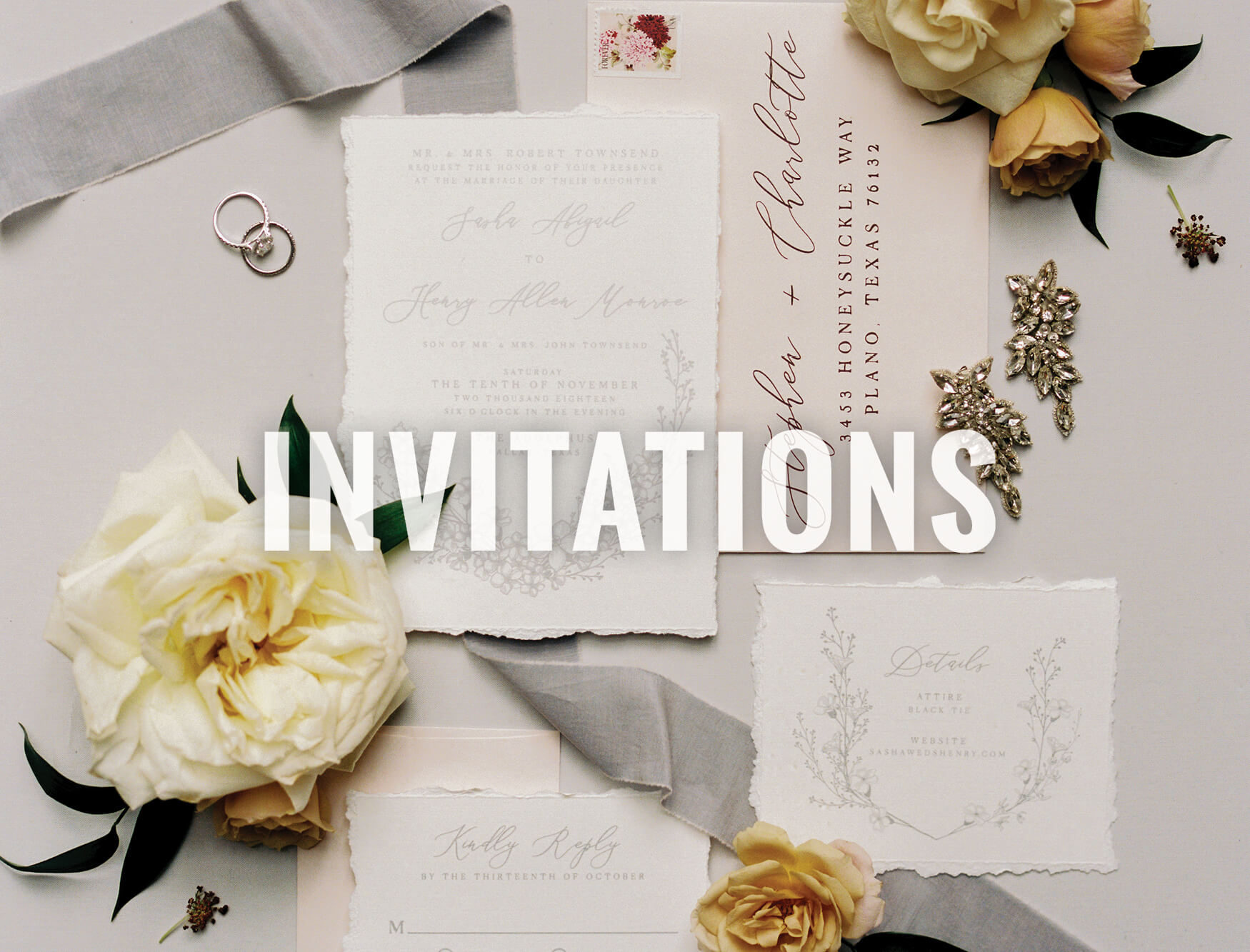 North Texas wedding invitations