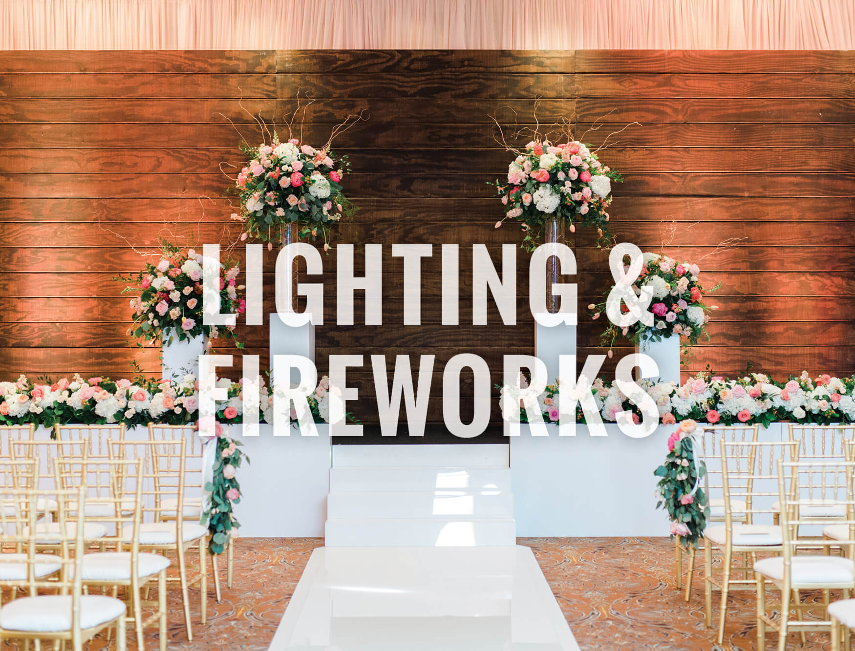 North Texas wedding lighting