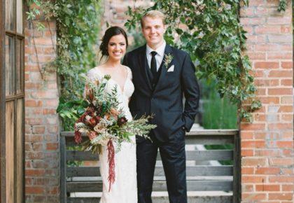Dani Thompson Weds Eric Diment Blush and Burgundy Fort Worth Wedding