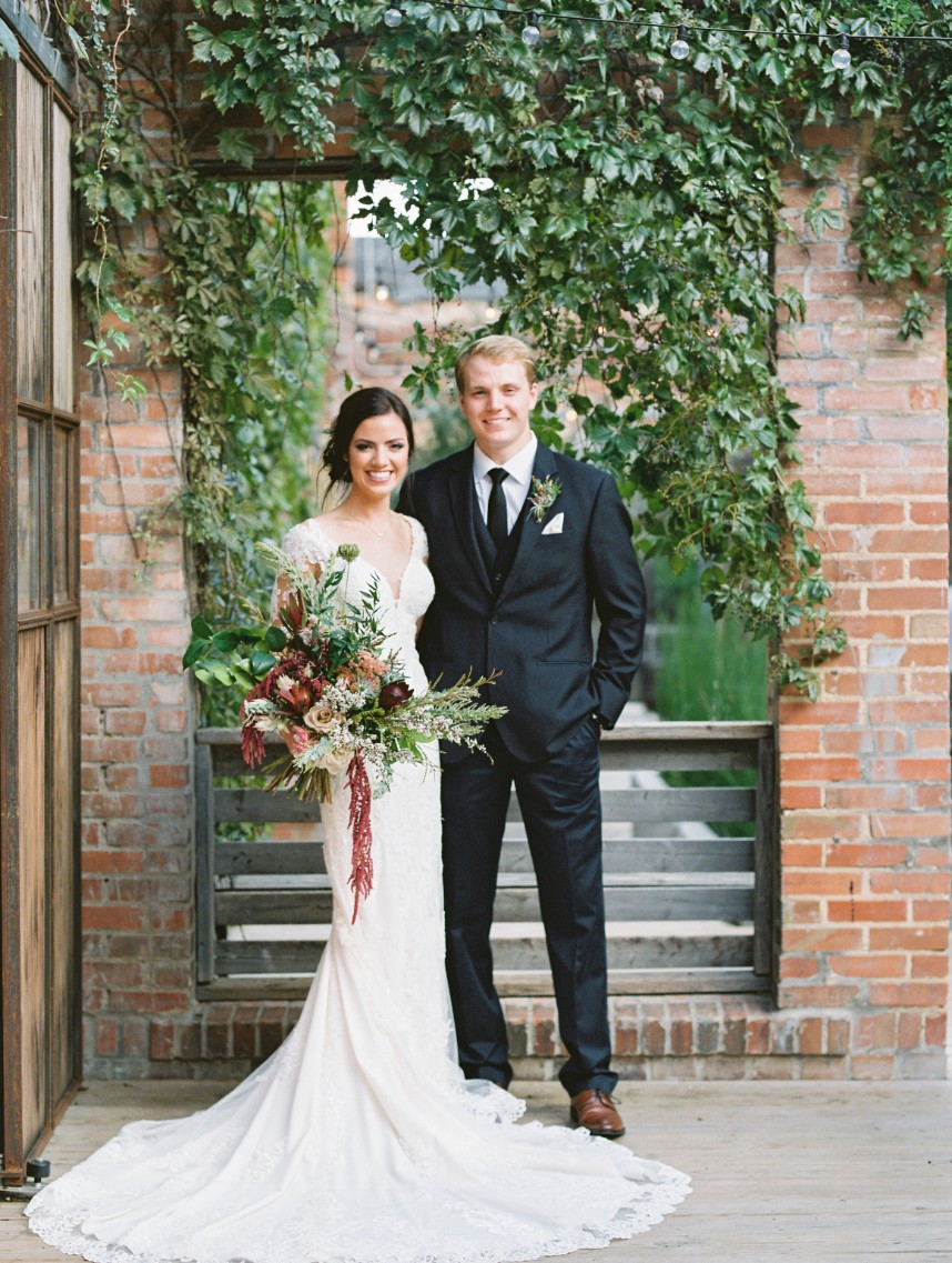 Dani Thompson Weds Eric Diment Blush and Burgundy Fort Worth Wedding