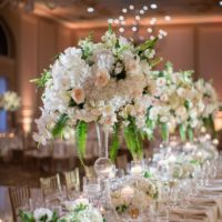 large white floral centerpiece
