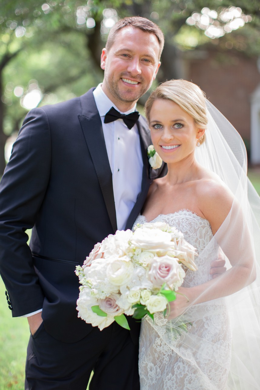 Kristen Dirting Joshua Kirby Classic Neutral Wedding At The Adolphus