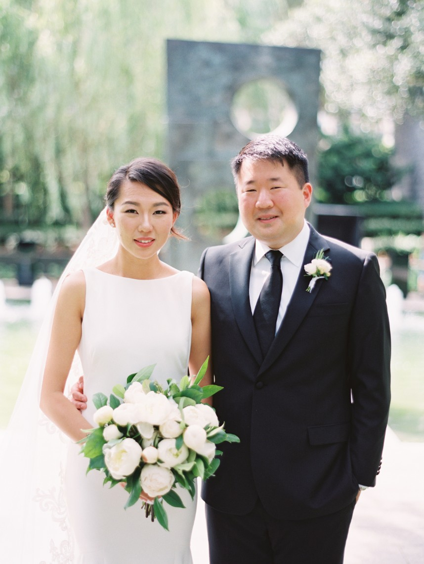 Jungeun Cho Weds Richard Chang Gorgeous White Wedding at Nasher Sculpture Center from Keestone Events