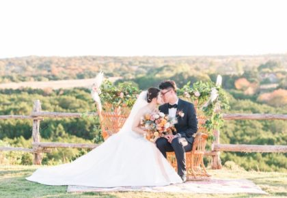 Di Cui Weds Ziming Zhang Pastel Autumn Wedding at Dove Ridge Vineyard