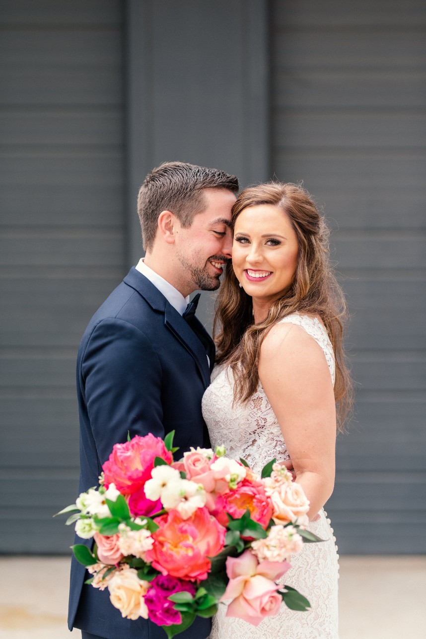 Hailey Smith Weds Andy Stills Industrial Spring Wedding at Mopac Event Center