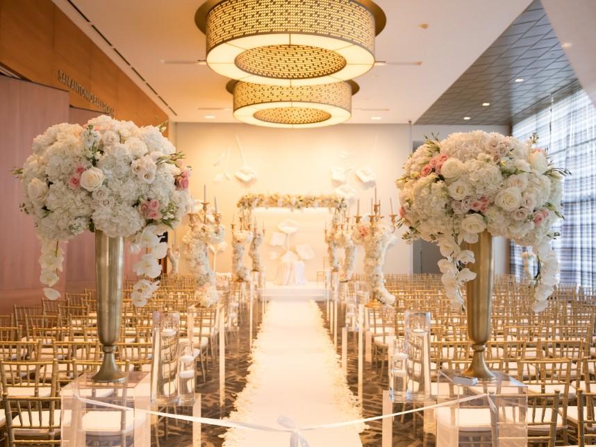 classic elegant ballroom wedding