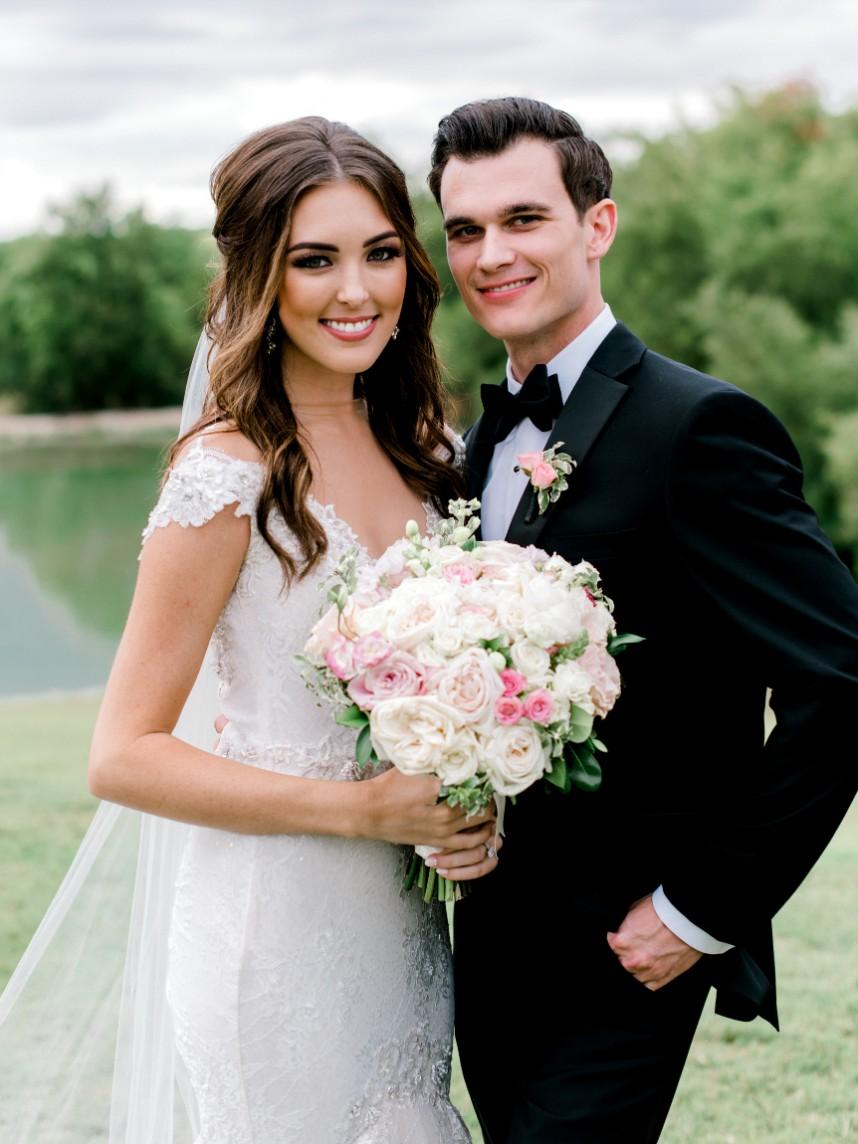 Brittney Miles Weds Josh Samford Beautiful Blush + Ivory Wedding from Events by Jade