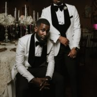 Rory Griggs Weds Martese Prince Elegant Black Tie Wedding at Vouv Dallas