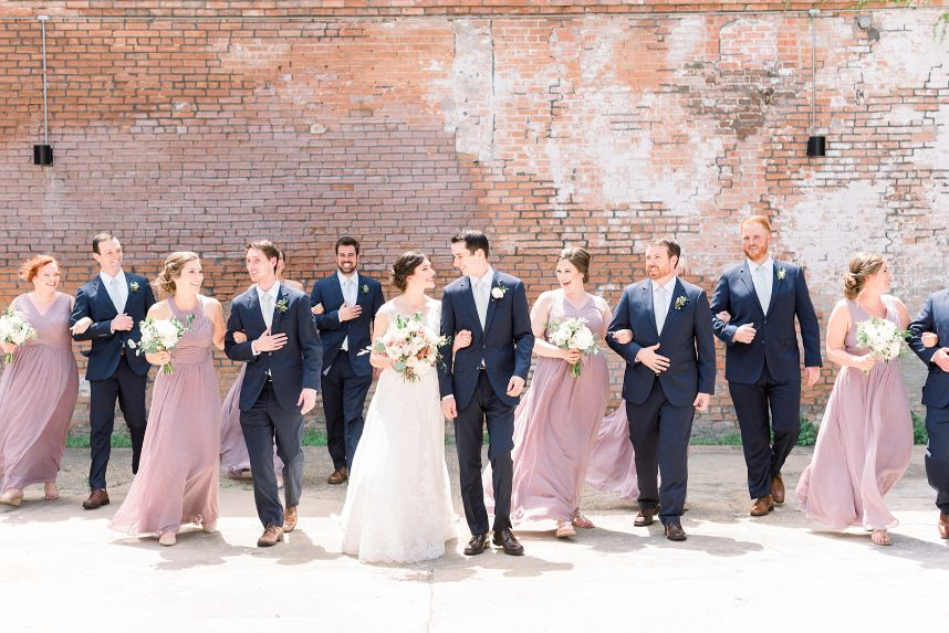 mauve wedding party