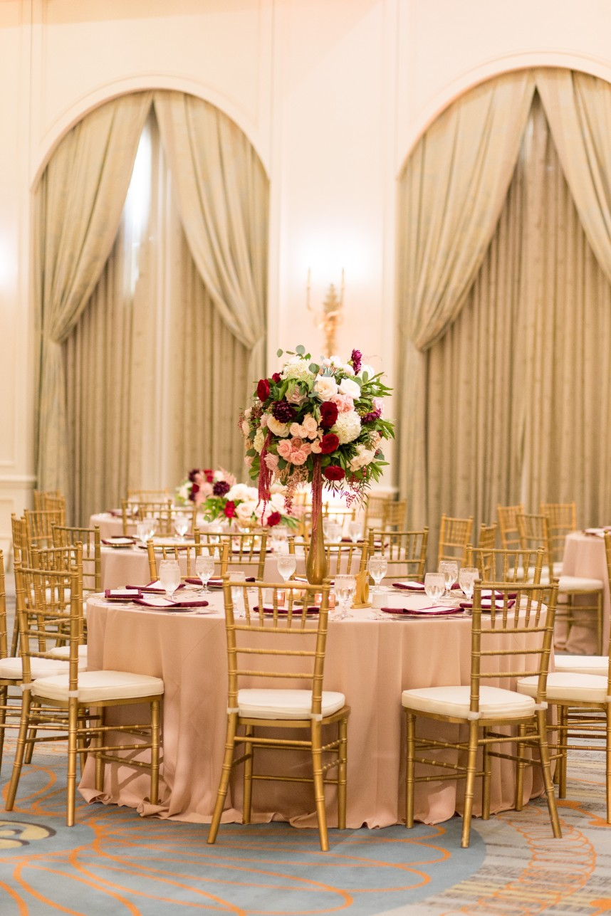 elegant wedding centerpiece