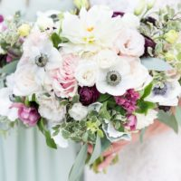 pastel and plum bouquet