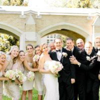 timeless white wedding wedding party