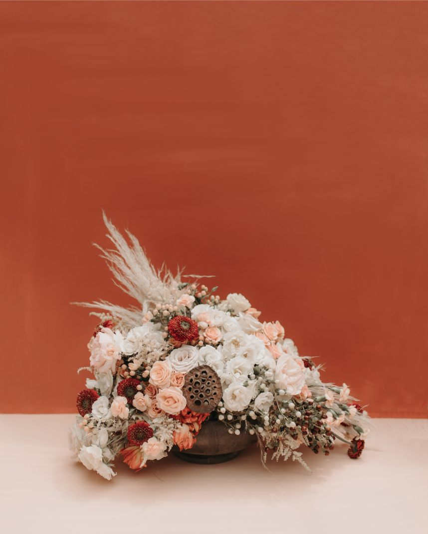 autumn tones in wedding details FW19 color coded