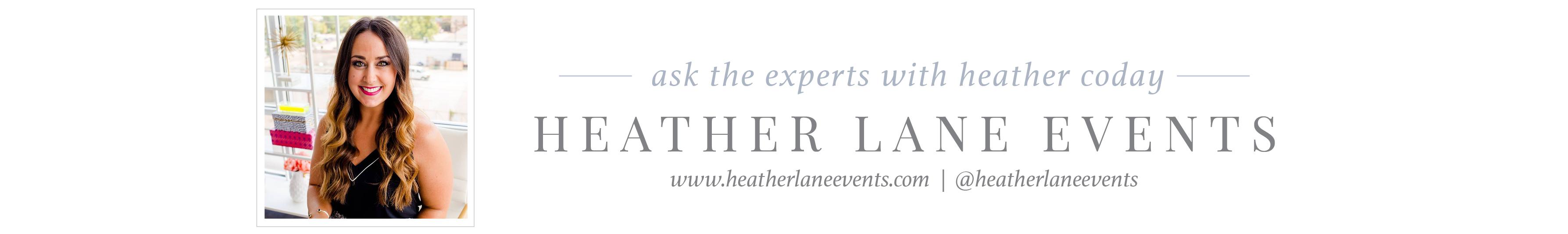 heather lane events wedding planner