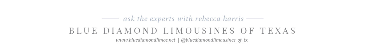 blue diamond limousine wedding transportation