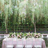 romantic garden intimate dinner