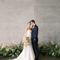grayscale modern wedding inspiration from keestone events