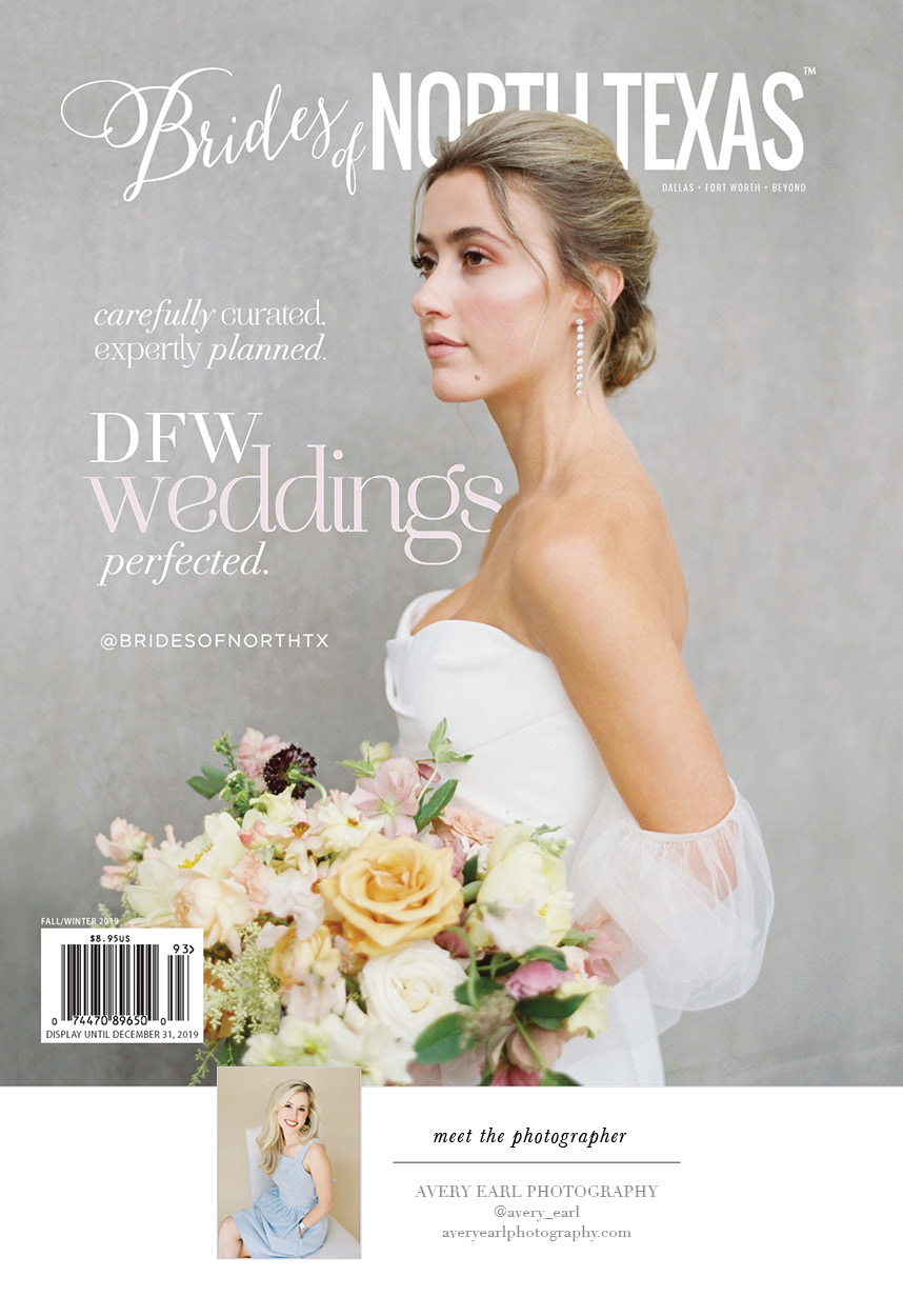 Cheers to the New Brides of North Texas Fall/Winter 2019 Cover!