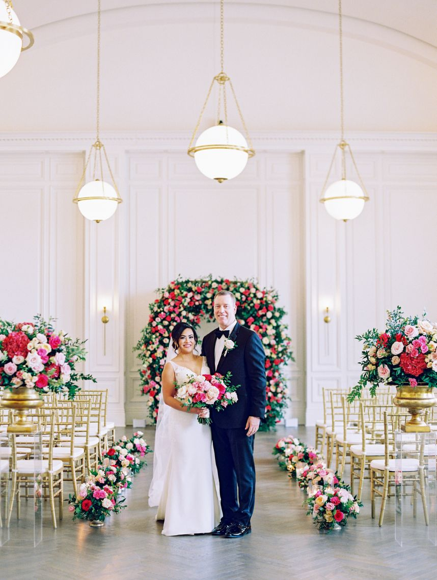Stephanie Nuñez Weds Mike Christians Posh Pink Wedding from Engaged Events