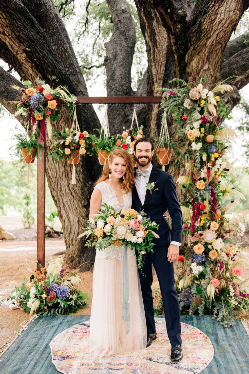 Katie Tull Weds Matthew Harris Southwest Inspired Boho Wedding from Silver Lining Events + Co.