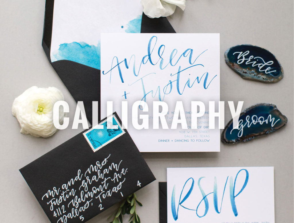 Brides of North Texas Calligraphy
