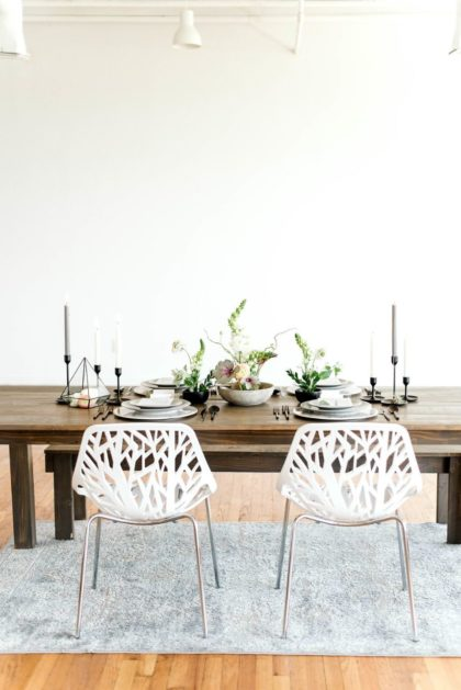 modern tablescape design