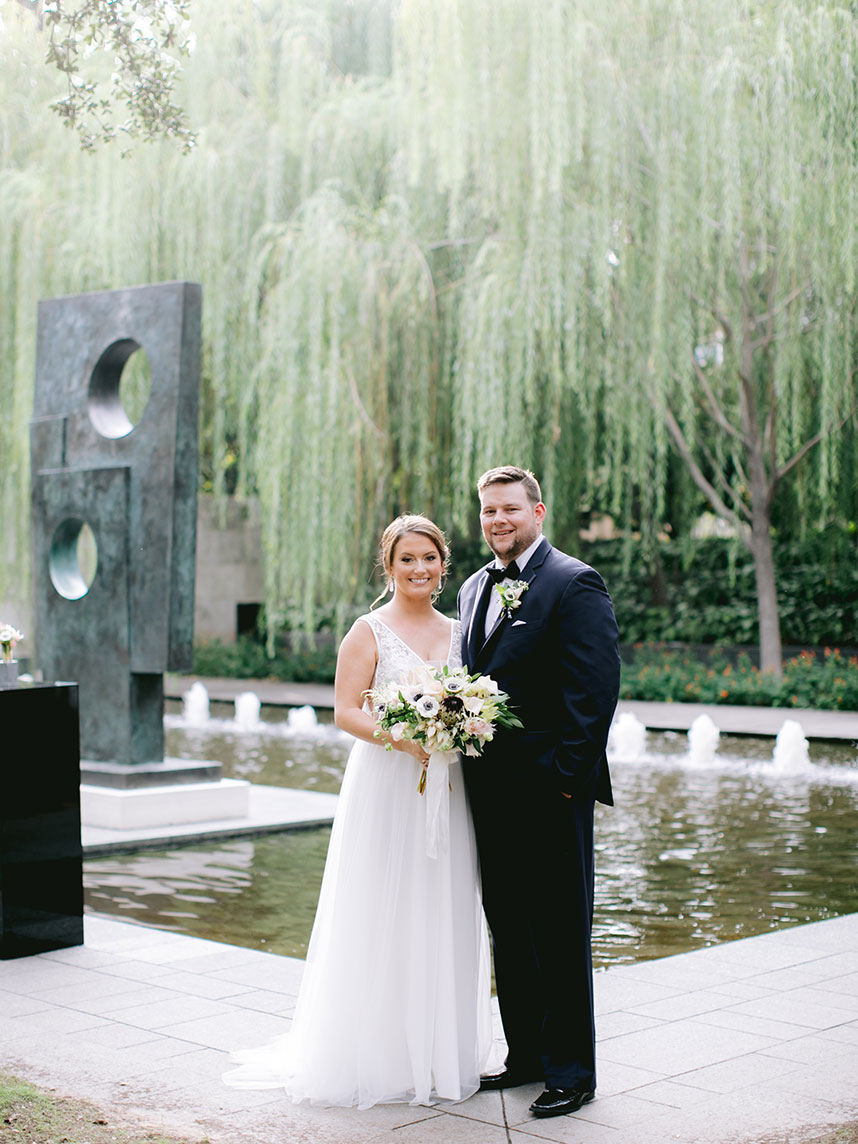Taylor Gromatzky Weds Brian Somerford Natural Wedding at Nasher Sculpture Center from Keestone Events