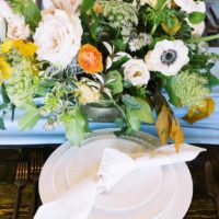autumn blues floral + bridal inspo from davis & grey farms