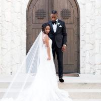 Modern Glam Metallic + White Wedding