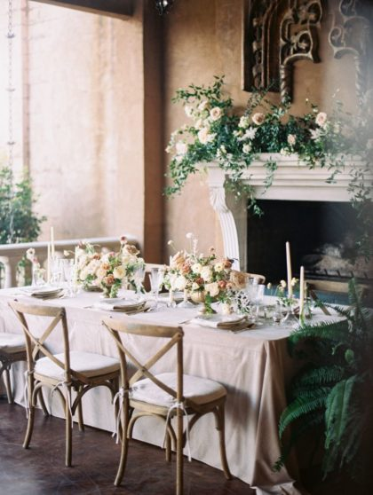 tuscany meets texas wedding decor