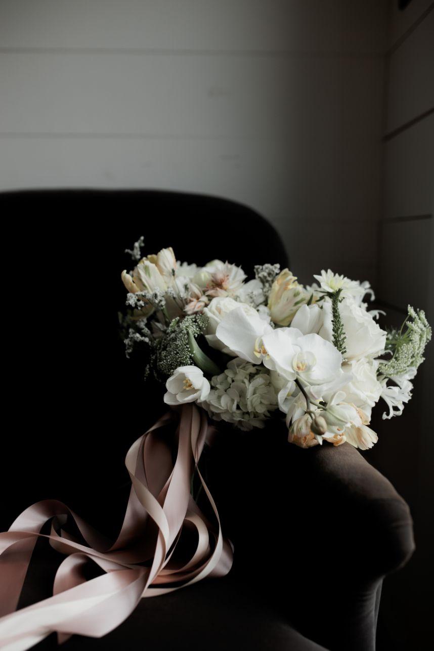 dr delphinium orchid bouquet