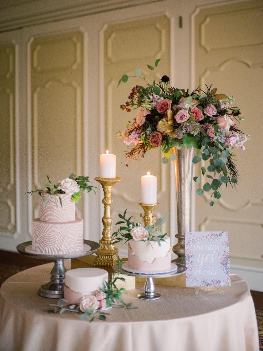 sugar bee sweets wedding cake trio