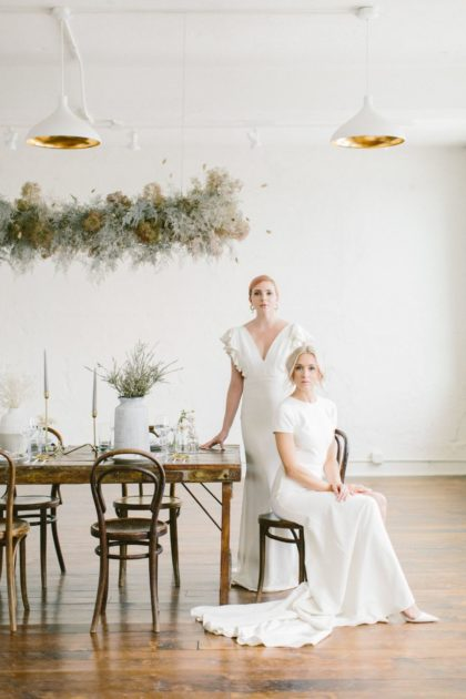 bridal style at schoolhouse styled shoot