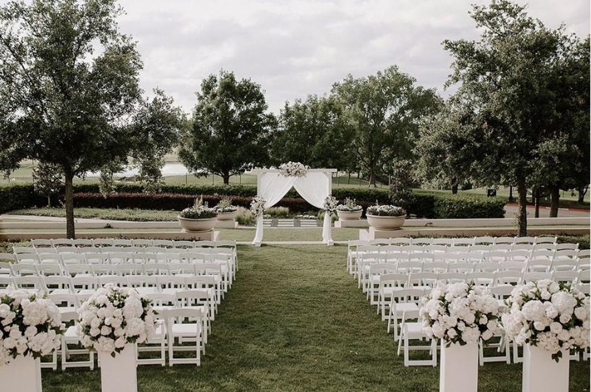 Westin Stonebriar waterfront wedding venue