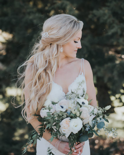 wedding hairstyle and neckline pairings