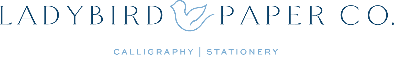 Ladybird Paper Co. Calligraphy, Invitations