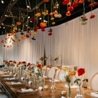 eclectic wedding reception