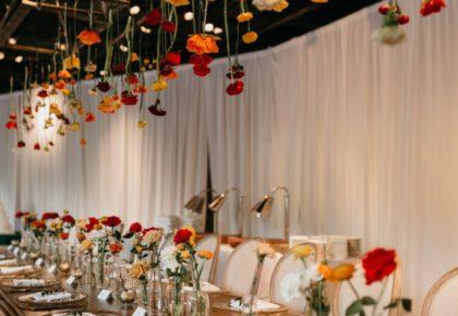 eclectic wedding reception