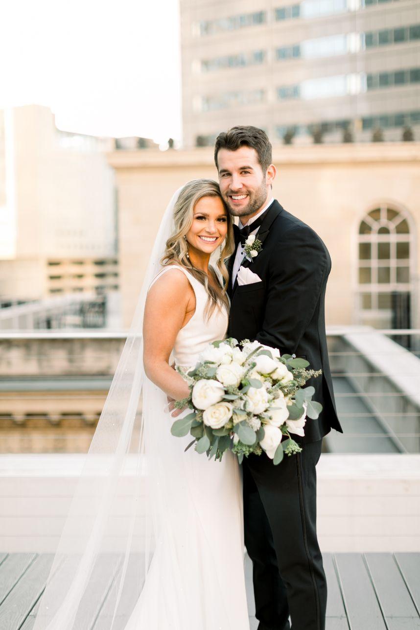 Simple wedding couple